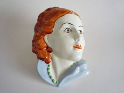 Lancaster and Sons 'Lady with Beads' Wall Mask c1935